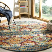 picture of an area rug in the den