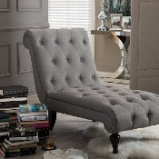 Picture of a chaise lounge chair for a home library