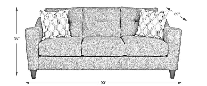 Outstanding Couch Dimensions What Size Couch Is Right For My Living Room Home Interior And Landscaping Fragforummapetitesourisinfo