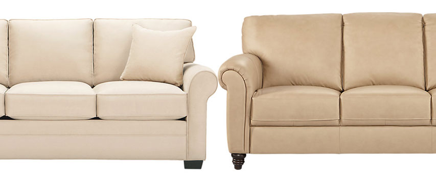 leather vs fabric sofa which couch is best rh furniture com fabric vs leather sofa reddit fabric or leather sofa set with kids