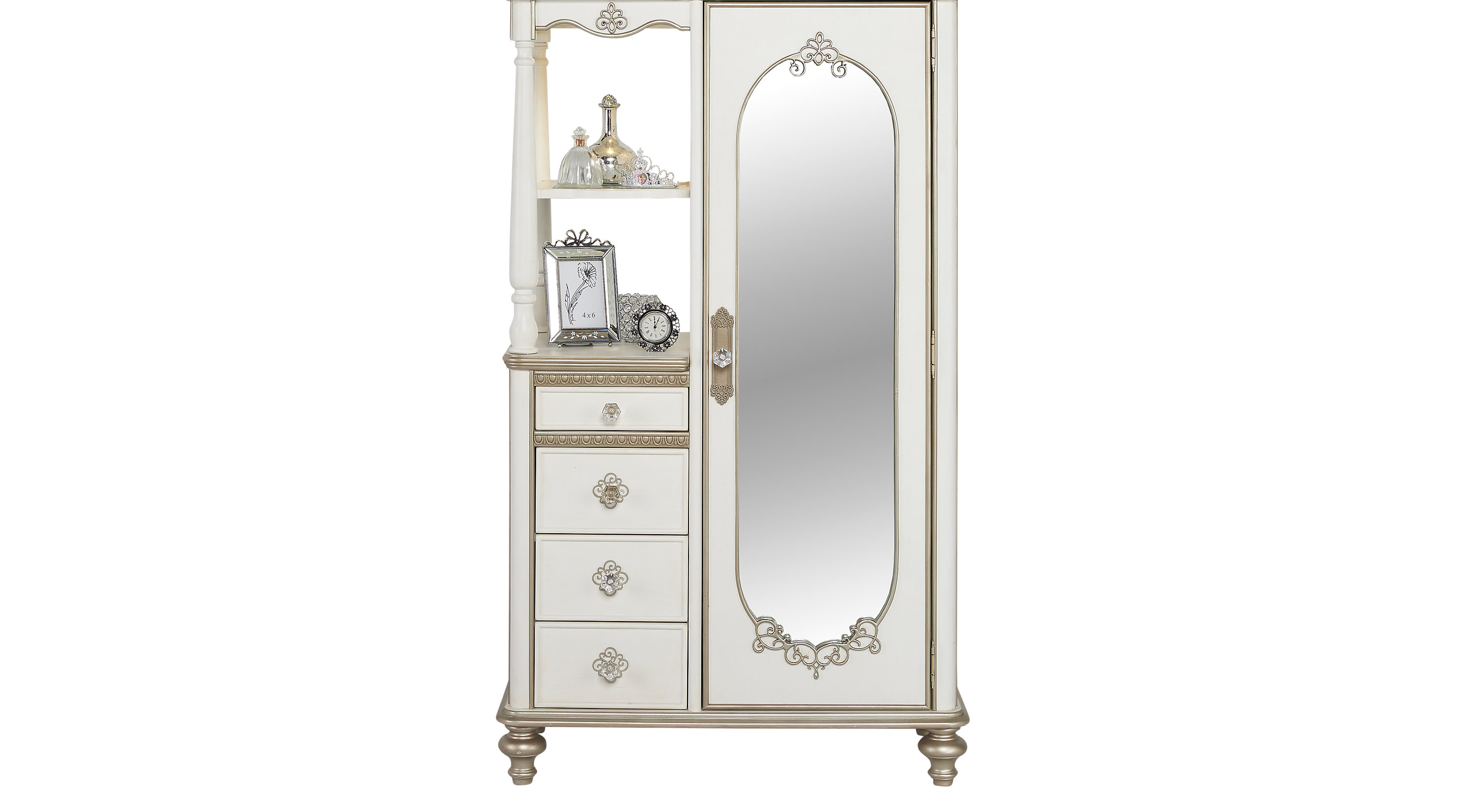 disney princess enchanted kingdom white armoire. Black Bedroom Furniture Sets. Home Design Ideas