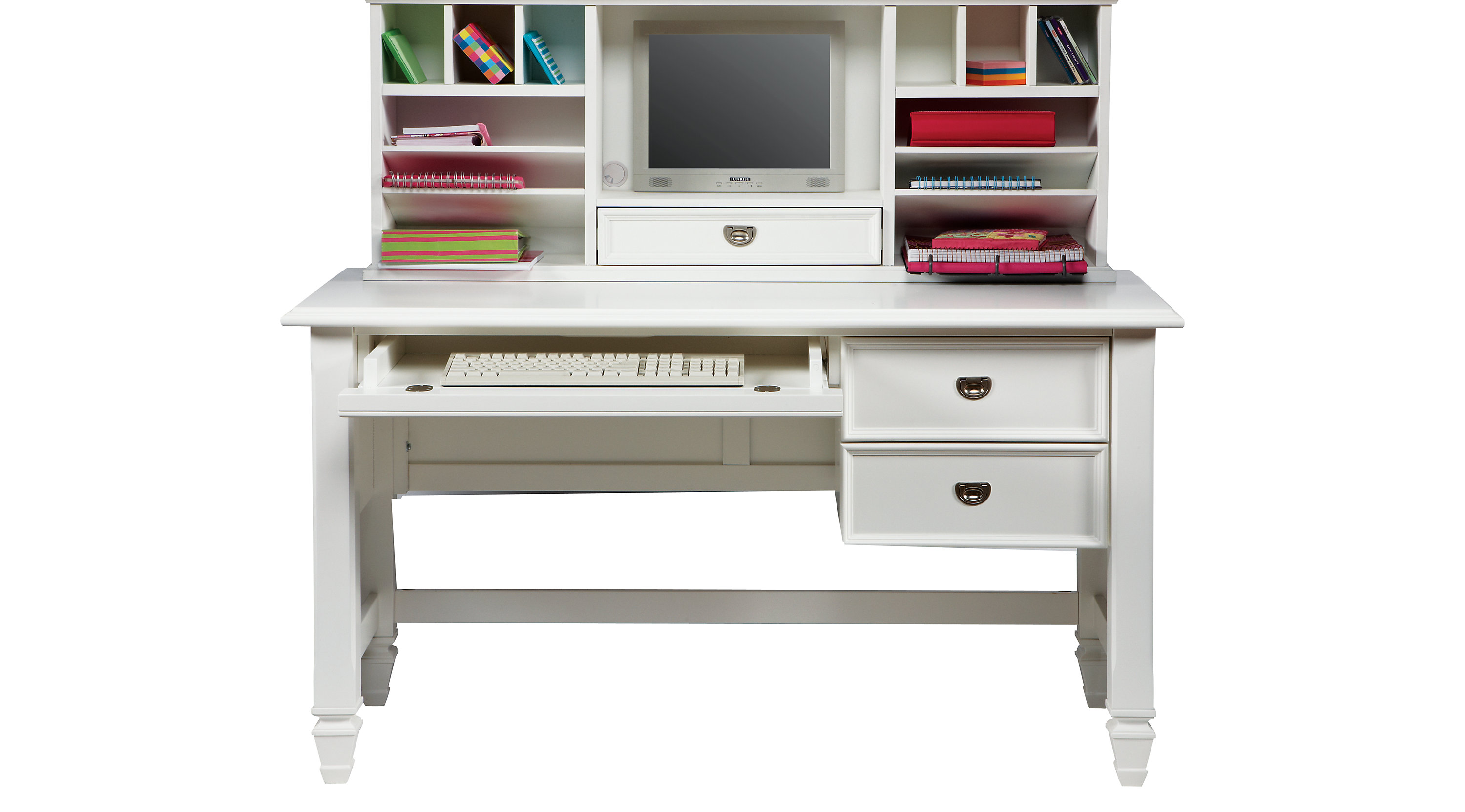 belmar white 2 pc desk and hutch rh furniture com white hutch desk ikea white desktop hutch