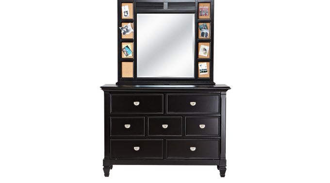 Belmar Black Dresser & Mirror Set