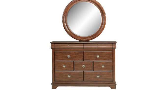 Oberon Cherry Dresser & Mirror Set