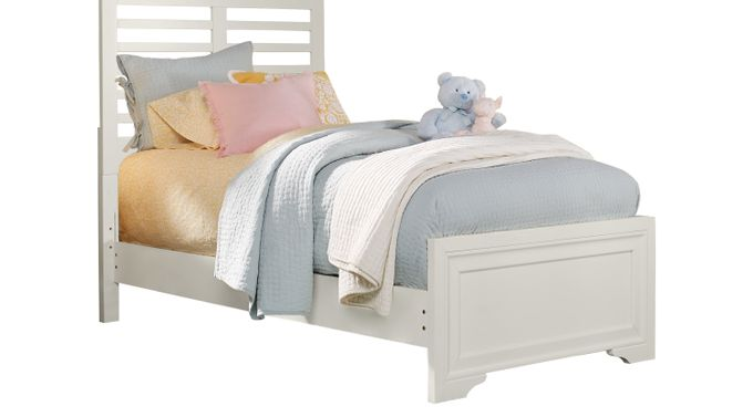 Belcourt Jr. White 3 Pc Full Ladder Bed - Slat