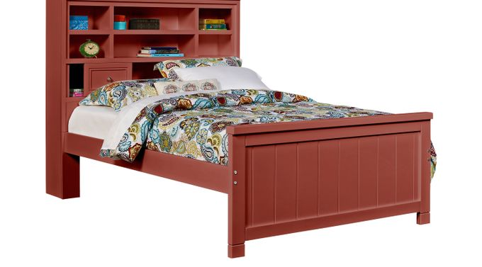 Cottage Color (alternate) s Red 3 Pc Full Bookcase Bed