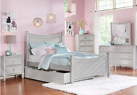 Jaclyn Place Gray 5 Pc Twin Panel Bedroom