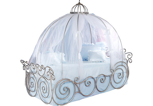 Disney Princess Metal 4 Pc Twin Carriage Bed Canopy