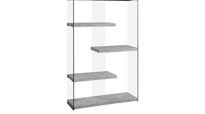 Ravine Gray Bookcase