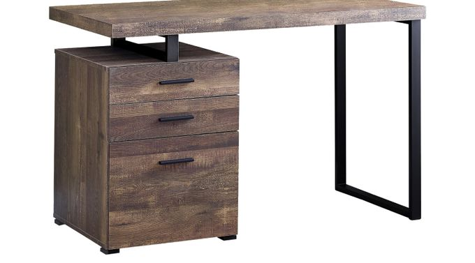 Windmier Brown Desk - Contemporary
