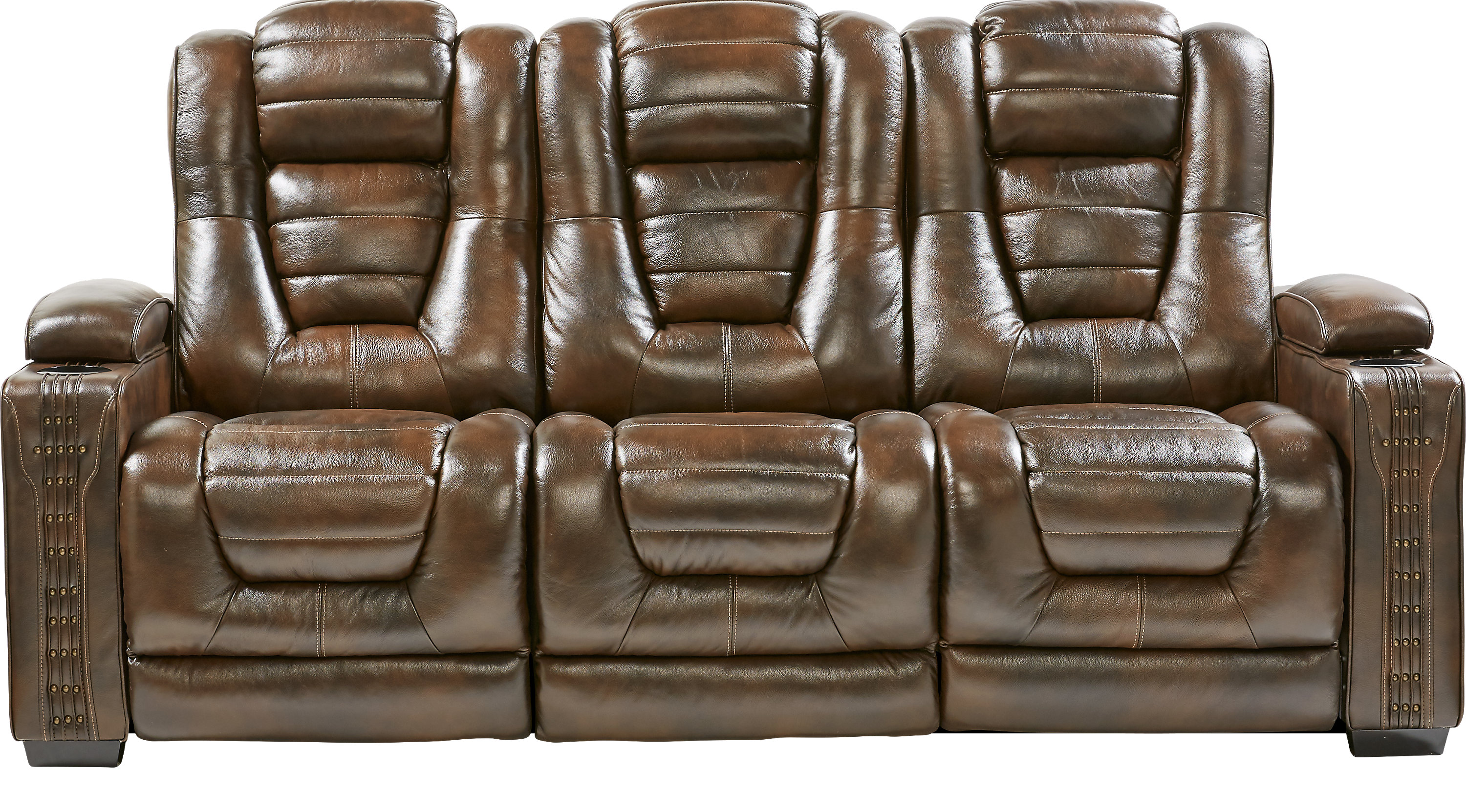 1 499 99 Eric Church Highway To Home Renegade Brown Leather  ~ Baycliffe Reclining Sofa Reviews