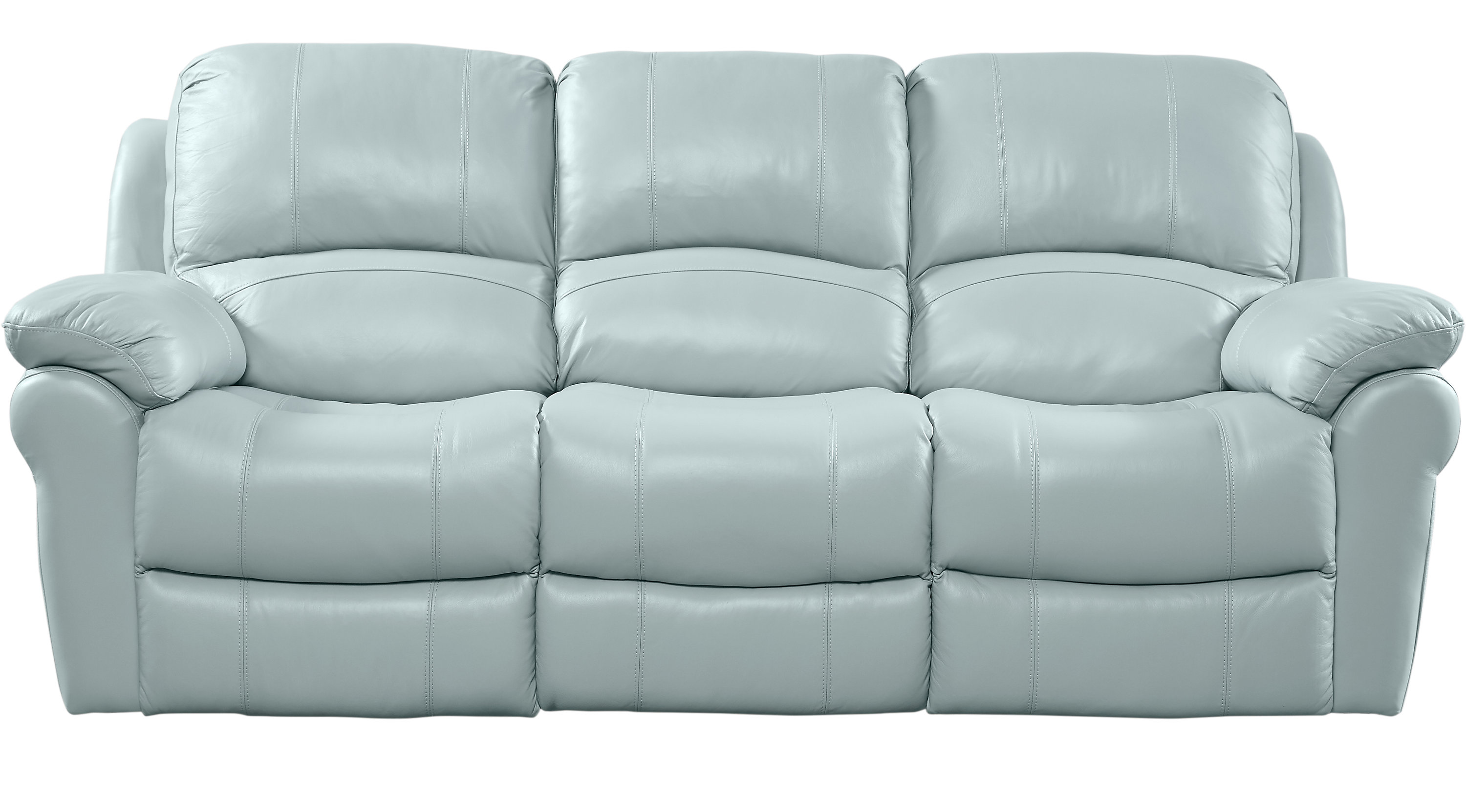 888 00 Vercelli Aqua Light Blue Leather Reclining