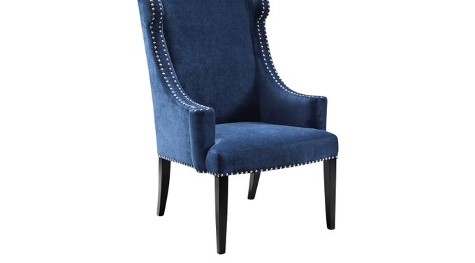 Beckfield Blue Accent Chair - Upholstered - Contemporary, Polyester