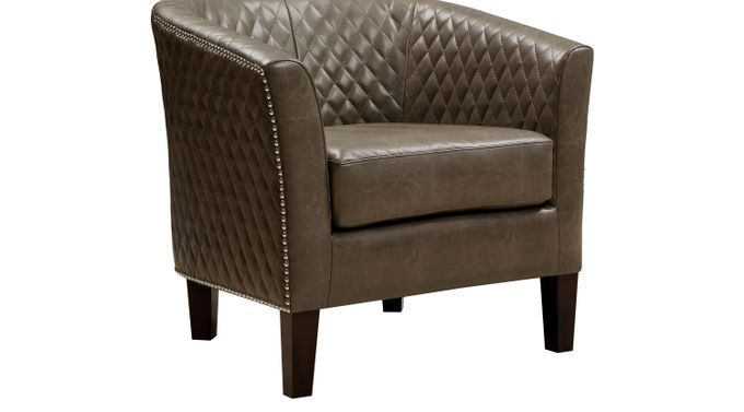 Casino Drive Brown Accent Chair