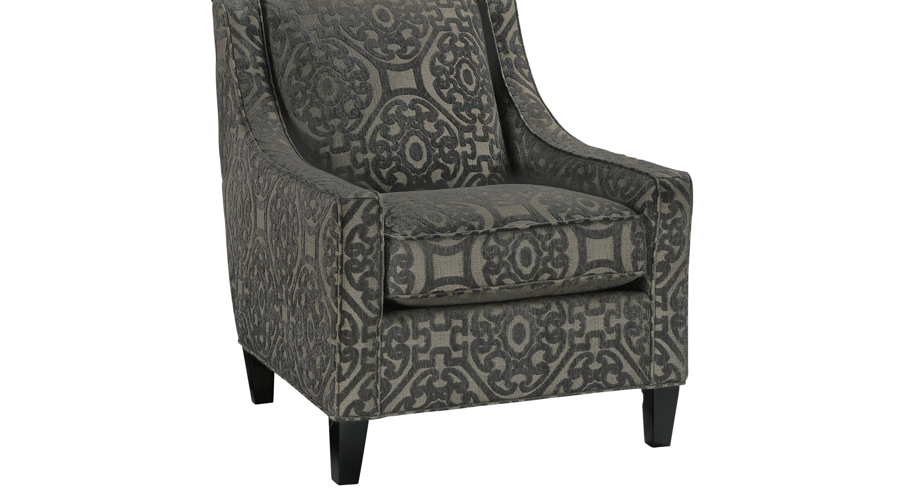 Excellent Cindy Crawford Home Sidney Road Gray Accent Chair Caraccident5 Cool Chair Designs And Ideas Caraccident5Info