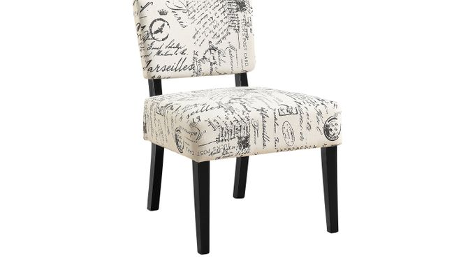 Crestover Ivory (off-white)  Accent Chair - Upholstered - Contemporary, Linen