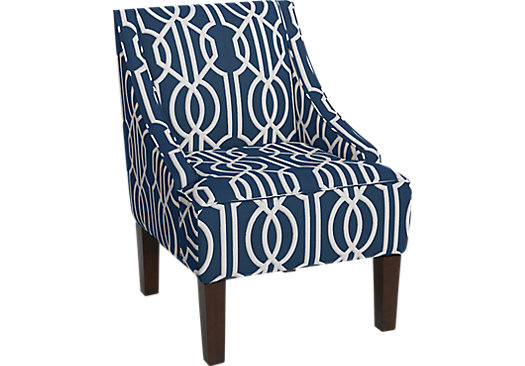 Delana Navy Deco Chair
