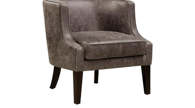 Essie Brown Accent Chair - Transitional