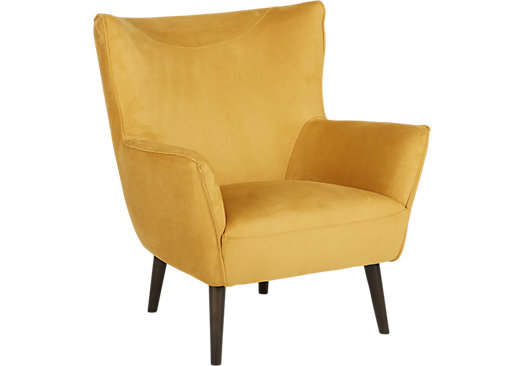 Hansel Yellow Accent Chair Classic