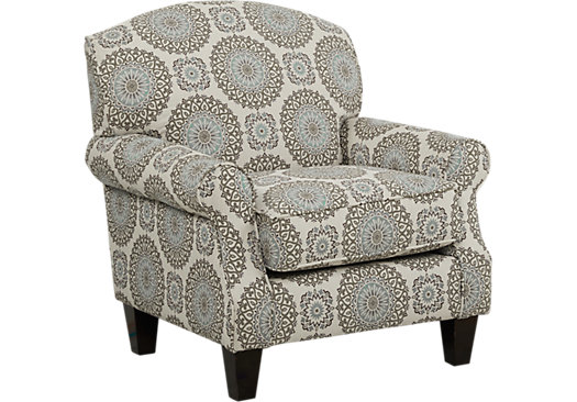 449 99 Pennington Blue Medallion Accent Chair Classic