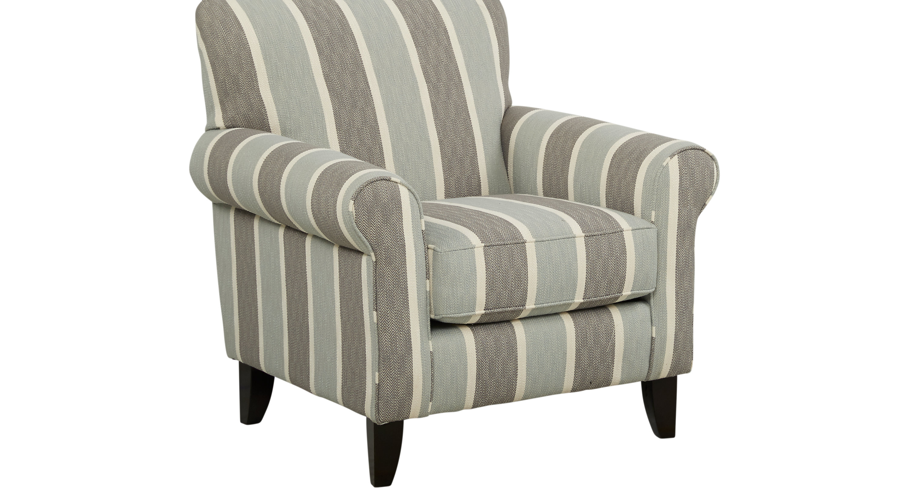 449 99 Pennington Blue Striped Accent Chair Classic