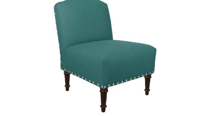 Petrini Place Lagoon (blue)  Accent Chair - Transitional, Linen