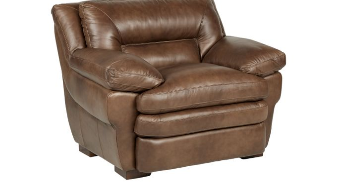 Aventino Tobacco  (tan / brown) Leather Chair - Classic - Transitional,