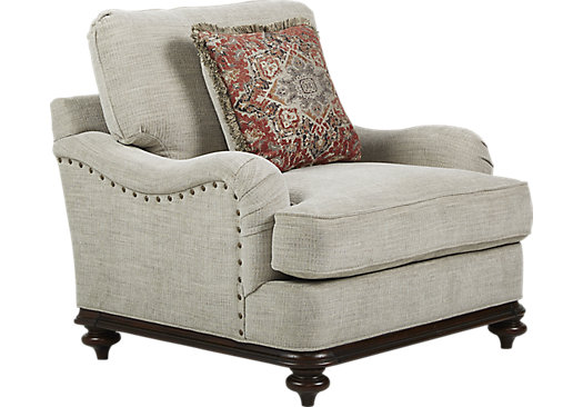 Bali Breeze Taupe Chair - Classic - Transitional, Textured