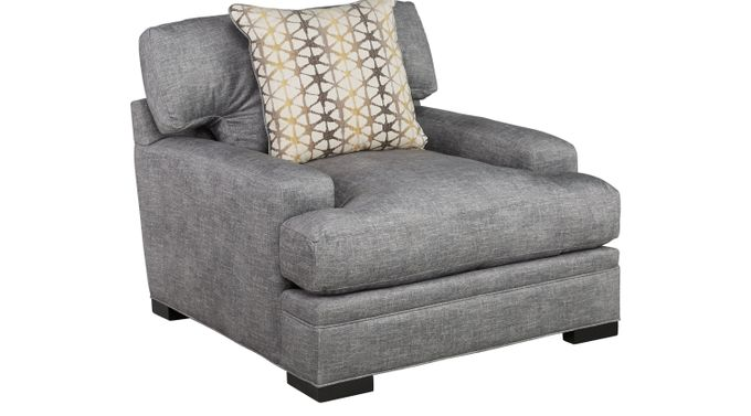 Palm Springs Gray Chair - Classic - Contemporary, Polyester
