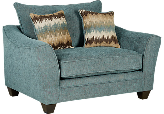 Madeley Teal Chair - Classic - Contemporary, Polyester