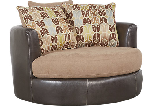 River bluff beige swivel chair contemporary synthetic for Swivel chairs living room sale