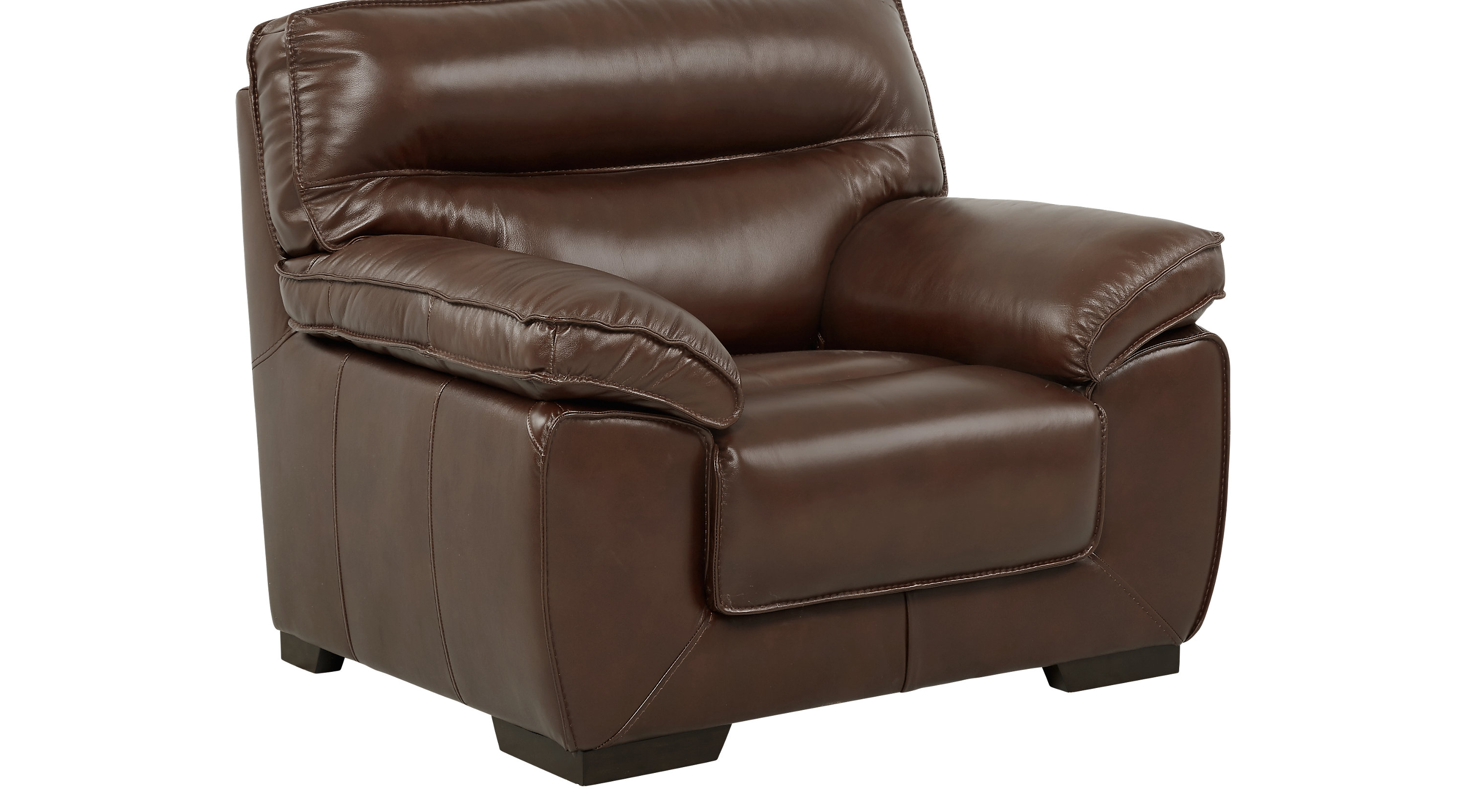 River Place Brown Leather Chair