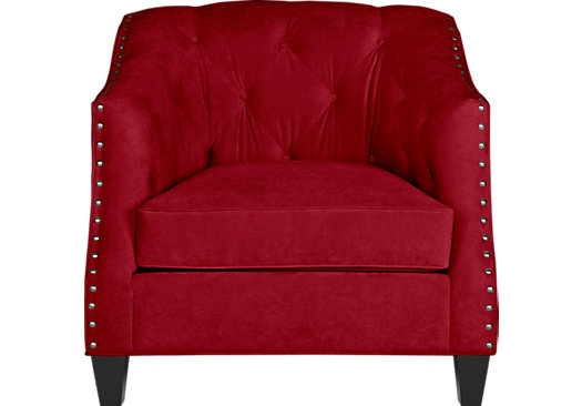 Monaco Court Scarlet Chair - Classic - Transitional, Polyester