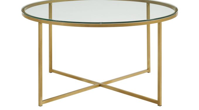 Bryon Alley Gold Cocktail Table - Round - Contemporary