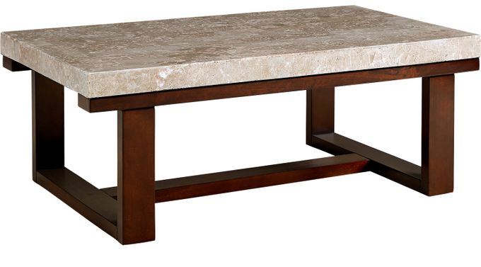 Caleb Espresso (dark brown)  Cocktail Table - Transitional