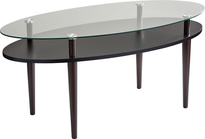 Disbrow Walnut (dark brown)  Cocktail Table - Oval - Contemporary