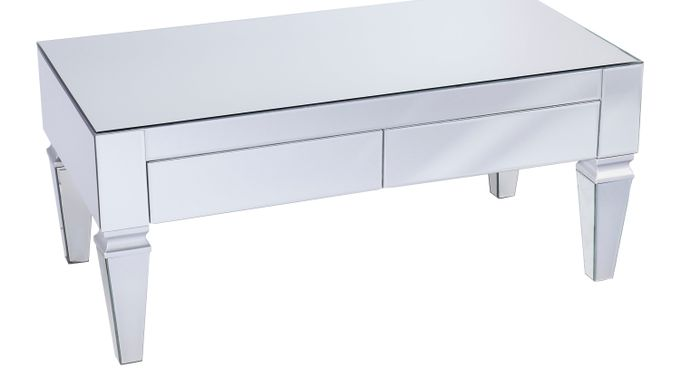 Dubay Silver Cocktail Table - Rectangle - Contemporary