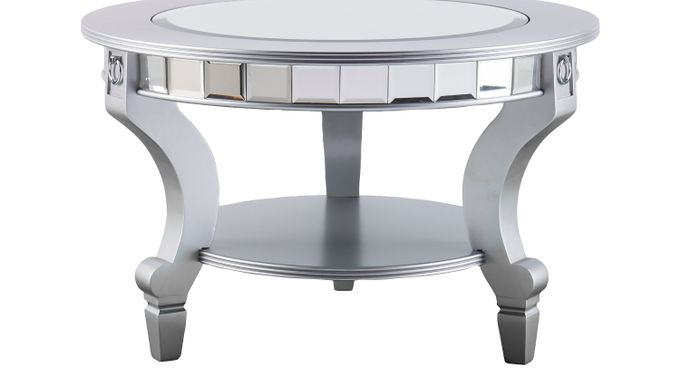 Lumley Silver Cocktail Table - Oval - Contemporary