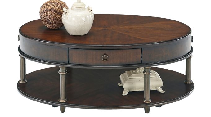 Wigmore Cherry Cocktail Table - Oval - Traditional