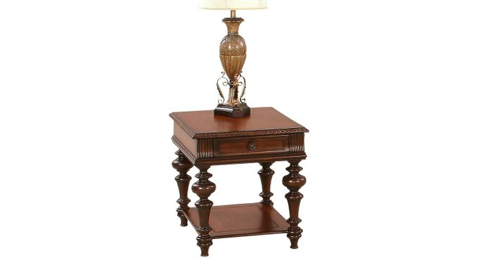 Reykin Cherry Side Table - Square - Transitional