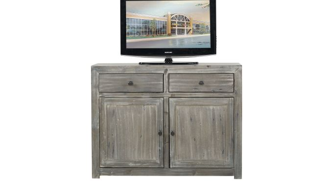 Pine Shores Gray 47 in. Console - Rustic