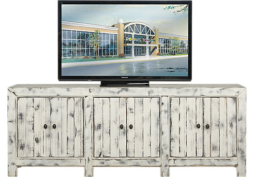 Pine Shores White 80 in. Console - Rustic