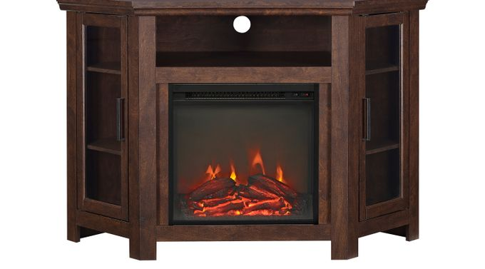 Russell Brown 48 in. Console with Electric Fireplace