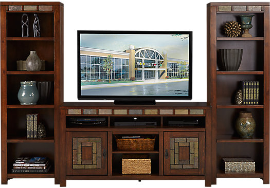 999 99 Bartlett Ii Cherry 3 Pc Wall Unit Contemporary