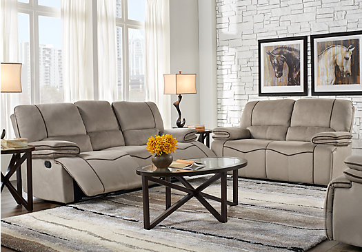 Alberta trails gray 3 pc living room classic for A p furniture trail
