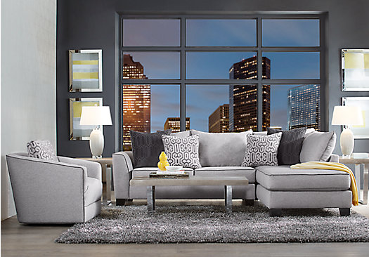 $1,599.99 - Ash (gray) ford Landing Gray 6 Pc Sectional Living Room ...