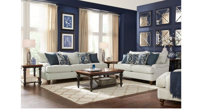 Azura Beige 8 Pc Living Room - Classic - Transitional, Textured