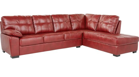 Red Sectional Sofas & Couches: Light & Dark Red Sectionals