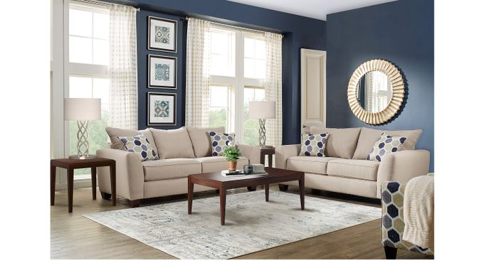 Bonita Springs 5 Pc Beige Living Room - Classic - Transitional, Textured