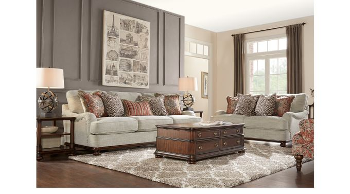 Bali Breeze Taupe (grayish brown)  8 Pc Living Room - Classic - Transitional, Textured